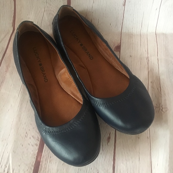Emmie Flats Navy Blue Leather 65